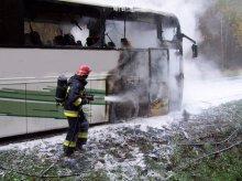Spłonął autokar wiozący licealistów