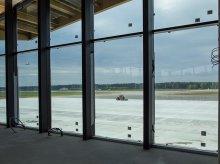 Test świateł nawigacyjnych na lotnisku Olsztyn-Mazury