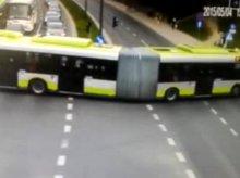 Zmiany w organizacji ruchu zaskoczyły kierowcę autobusu (film)