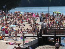 Wszystkie kąpieliska jeziora Ukiel zamknięte