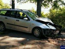 Poważny wypadek na trasie Łajsy- Unieszewo. Czworo dzieci w szpitalu