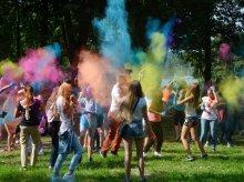 Olsztyn Holi Festival. Święto kolorów odbyło się nad Ukielem [ZDJĘCIA]