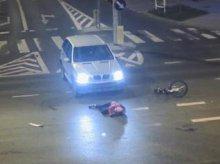 Bmw potrąciło rowerzystę na skrzyżowaniu w Olsztynie [FILM]