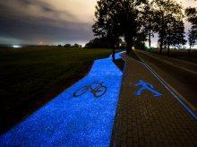 To będzie hit! Pierwsza w Polsce świecąca ścieżka rowerowa [FILM]