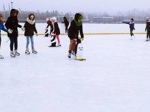 Ostatnie dni lodowiska nad jeziorem Ukiel