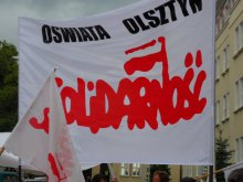 Strajk nauczycieli w Olsztynie. Nie będą pracować