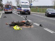 Poważny wypadek. Pasażerka jednośladu w olsztyńskim szpitalu