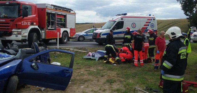 Tragiczny wypadek na trasie Ostróda-Olsztyn [FOTO]