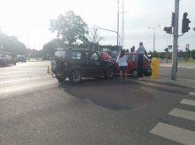 Wypadek na skrzyżowaniu z kolizyjnym lewoskrętem