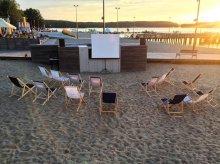 Teatralne kino na olsztyńskiej plaży