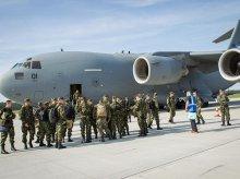 Olbrzymi samolot Boeing C-17 Globemaster lądował w porcie Olsztyn-Mazury [ZDJĘCIA]