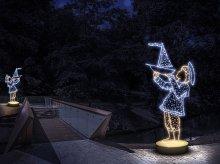 Nowa atrakcja w Olsztynie. Dekoracje świetlne wzdłuż Łyny