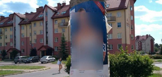 Obklejała słupy plakatami. Tłumaczyła, że wie, że to niezgodne z prawem
