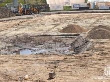 Chwilowy przestój przy budowie nowej płyty stadionu w Olsztynie