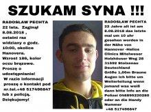 Kolejne zaginięcie. Rodzina straciła kontakt z 22-latkiem