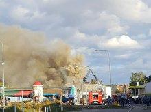 Znany sklep na olsztyńskim Zatorzu w płomieniach