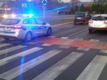 Potrącenie rowerzysty na rondzie OKS w Olsztynie