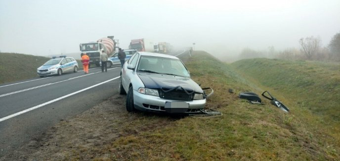 Czołowe zderzenie dwóch aut na DK 16 pod Biskupcem