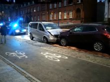 Pijany i bez prawa jazdy spowodował kolizję na ulicy Pieniężnego w Olsztynie [WIDEO]