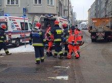 Groźne zderzenie w centrum Olsztyna. Są poszkodowani [ZDJĘCIA]