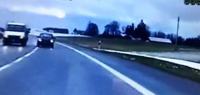 Brawurową jazdą stwarzał zagrożenie, bo... spieszył się na egzamin [WIDEO]