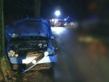 Tragedia pod Olsztynem. Kierowca volkswagena przejechał leżącego mężczyznę [ZDJĘCIA]