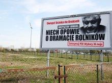 ''Uwaga! Ucieka do Brukseli''. Krzysztof Jurgiel na billboardach w Olsztynie