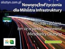 Olsztyn życzy Ministrowi Grabarczykowi...