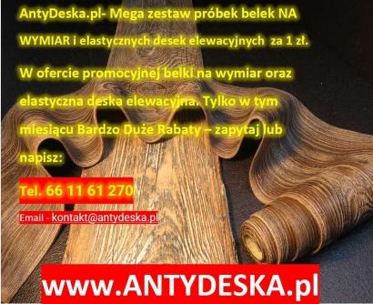 DARMOWE PRÓBKI, PROMOCJA NA ELASTYCZNE DESKI ELEWACYJNE I BELKI RUSTYKALNE AntyDeska.pl