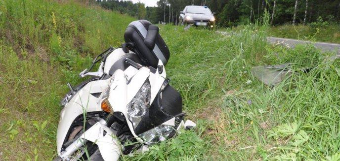Artykuł: Poważny wypadek motocyklisty