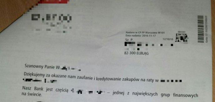 Artykuł: Otrzymał druki do spłaty kredytu, którego nie zaciągnął