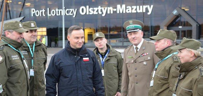 Artykuł: Prezydent Andrzej Duda wylądował na lotnisku Olsztyn-Mazury