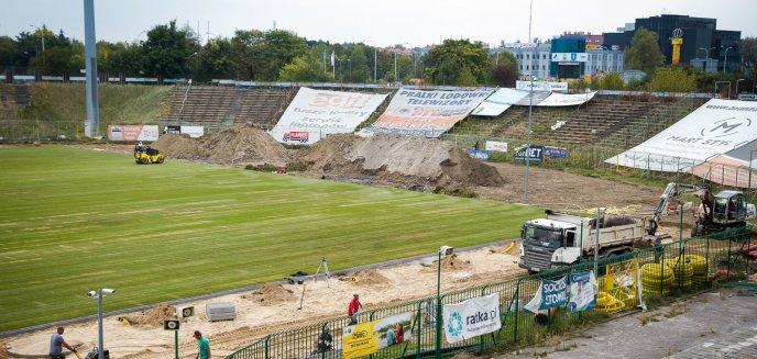 Stadion miejski w Olsztynie. Zaglądamy na plac budowy [ZDJĘCIA]