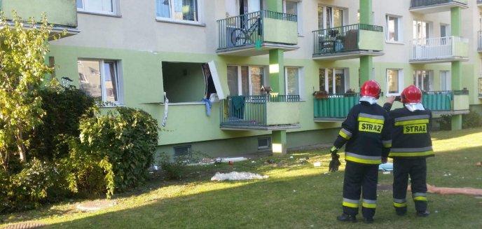 Artykuł: Wybuch przy ulicy Iwaszkiewicza w Olsztynie. Dwie osoby ranne [ZDJĘCIA]