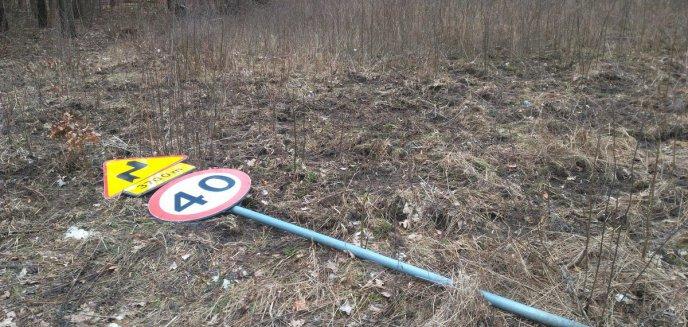 Artykuł: Kolejny akt wandalizmu. Celem padł znak drogowy