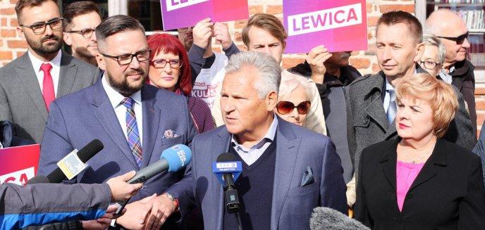 Prezydent Aleksander Kwaśniewski w Olsztynie. Wsparł Lewicę [ZDJĘCIA]
