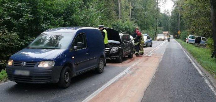Artykuł: Zderzenie aut na drodze do Dywit. Są utrudnienia w ruchu
