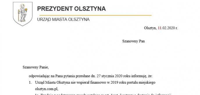 Artykuł: [OPINIE] Które lokalne media najwięcej zarobiły dzięki urzędowi miasta w Olsztynie?