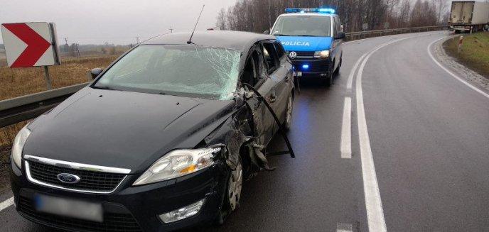 Artykuł: Zderzenie forda z ciężarówką na DK51