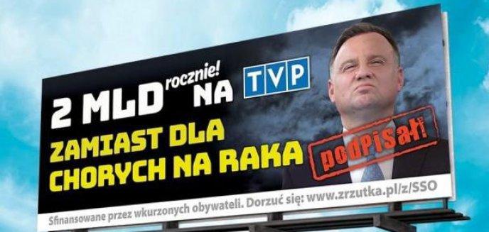Artykuł: ''2 mld rocznie na TVP zamiast dla chorych na raka''. Kontrowersyjny billboard pojawi się także w Olsztynie