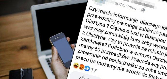 """Artykuł: """"Lokalni przewoźnicy nie mogą zabierać pasażerów z Olsztyna"""". W Biskupcu pojawiły się tzw. """"fake newsy"""""""