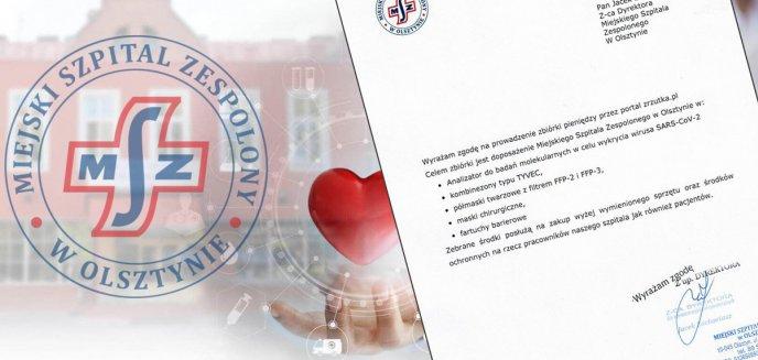 Artykuł: Dramatyczny apel personelu Szpitala Miejskiego w Olsztynie! Potrzeba pieniędzy na maski i kombinezony