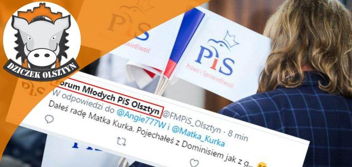 Artykuł: Afera na Twitterze. Wulgarne wpisy na profilu ''Forum Młodych PiS Olsztyn''