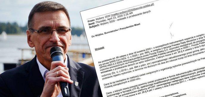 Artykuł: Wybory 2020. Czy prezydent Olsztyna udostępni Poczcie Polskiej dane mieszkańców?