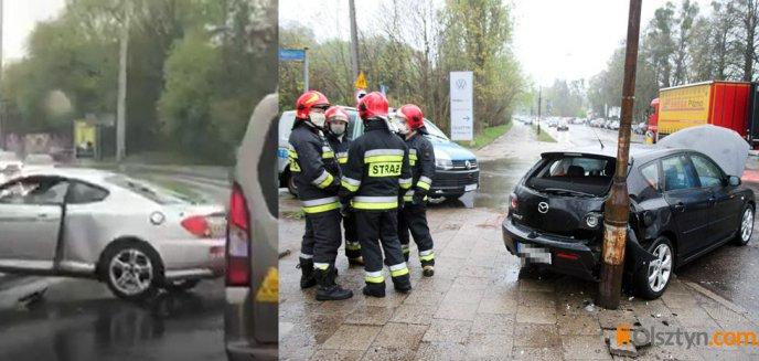Artykuł: Kolizja osobówek na al. Sybiraków. Na ul. Synów Pułku hyundai uderzył w autobus miejski [ZDJĘCIA, WIDEO]