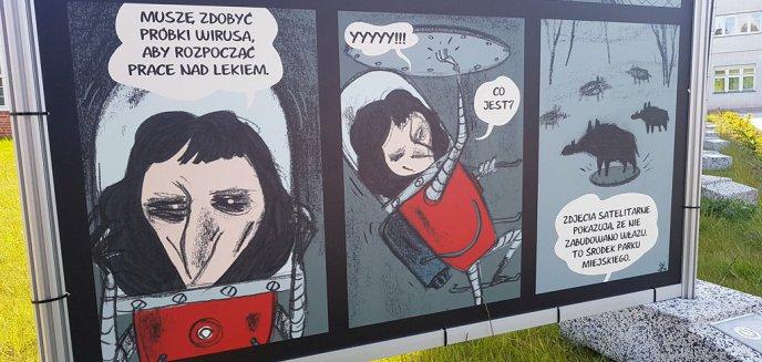 Wyjątkowy komiks w Olsztynie. Kopernik kontra pandemia i... dziki [ZDJĘCIA]
