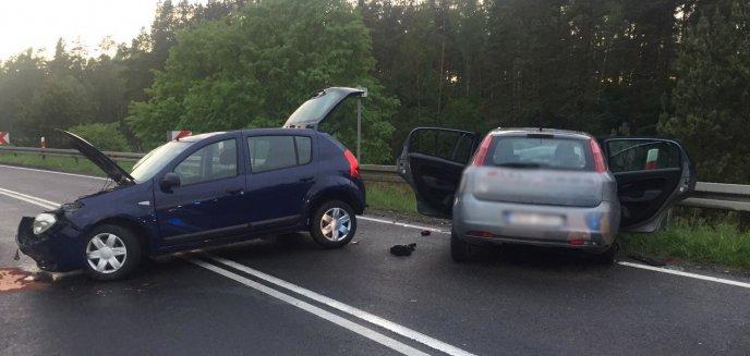 Czołowe zderzenie na DK16. Zablokowana droga Olsztyn-Ostróda!