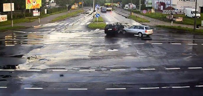 Groźne zdarzenie na skrzyżowaniu ulicy Żołnierskiej i Dworcowej w Olsztynie [WIDEO]