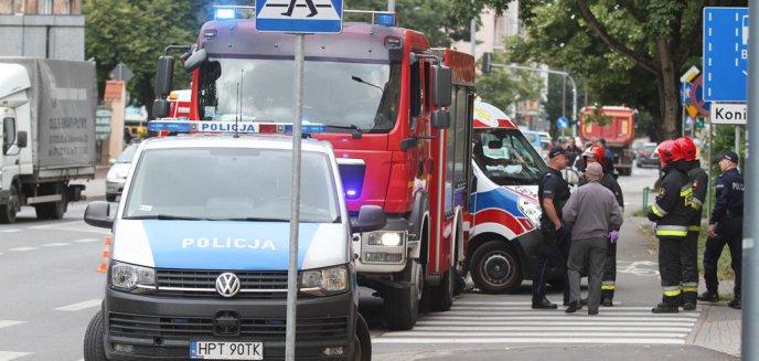 Artykuł: Potrącenie pieszego na ul. Jagiellońskiej w Olsztynie [ZDJĘCIA]