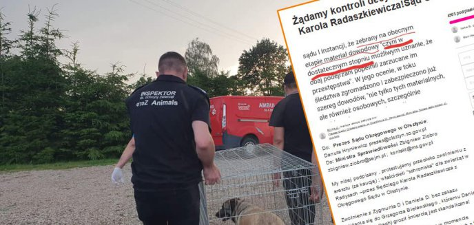 Artykuł: Petycja do Ziobry ws. właścicieli schroniska w Radysach. ''Decyzja sędziego to skandal!''